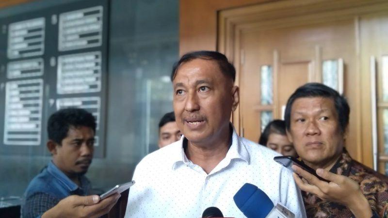 Mantan Anggota DPR RI, Markus Nari di Pengadilan Tipikor, Jakarta. Foto: Ainul Ghurri)