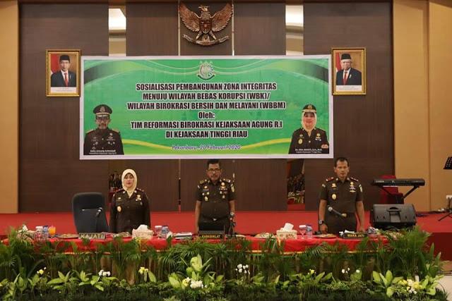 Sosialisasi WBK/WWBM, Kaban Diklat Sambangi Kejati Riau