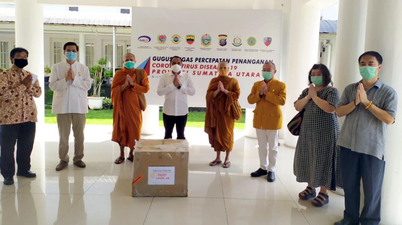 Gubsu Terima 21 Ribu Rapid Test Dari Sangha Agung dan Sangha Theravada 3
