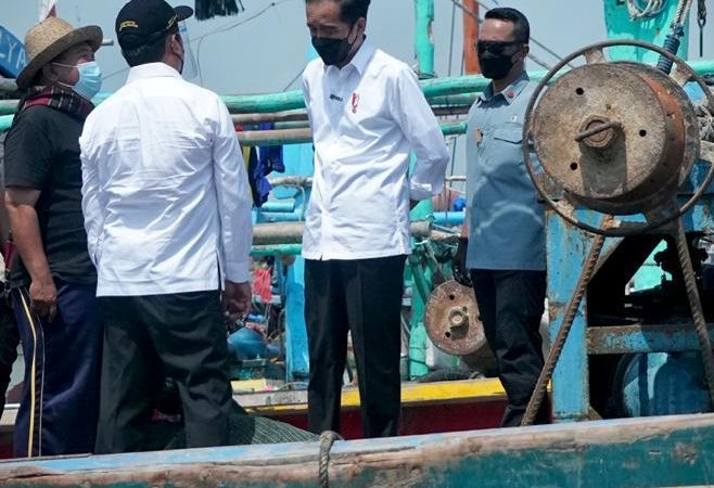 Jokowi Tinjau PPDI Brondong di Jawa Timur