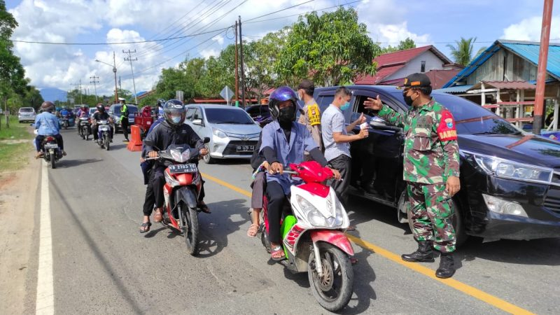 Perayaan Lebaran, Koramil Selakau Laksanakan Pengawasan dan Larangan Mudik