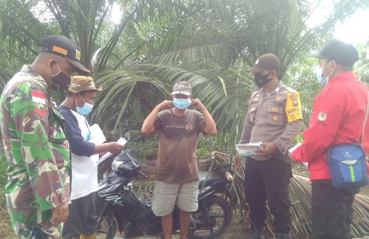 Babinsa Sarang Burung Kuala Imbau Masyarakat Tak Bakar Lahan
