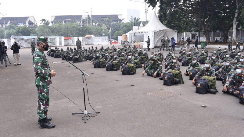 Bantu Penanganan Covid-19, 176 Tenaga Kesehatan TNI Tiba di Wisma Atlet Kemayoran