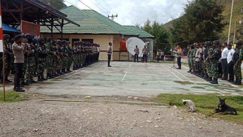 Apel Gelar PasukanDalam Rangka Keamanan dan Ketertiban Masyarakat di Wilayah Lanny Jaya