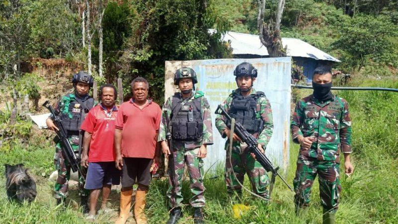Karya Bakti TNI di Distrik Minage Kabupaten Tolikara