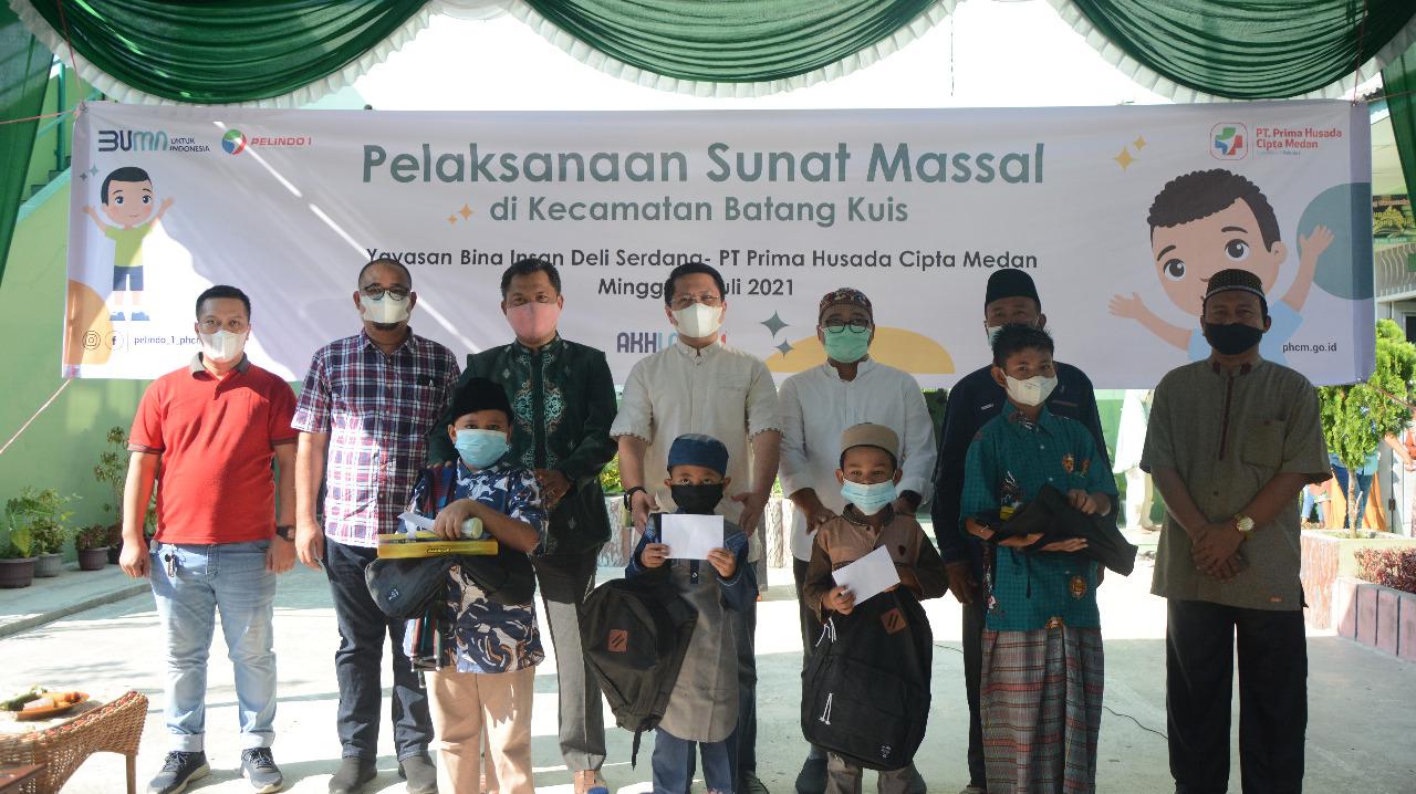 Peduli Kesehatan Anak, Pelindo 1 Gelar Sunnat Massal di Batang Kuis