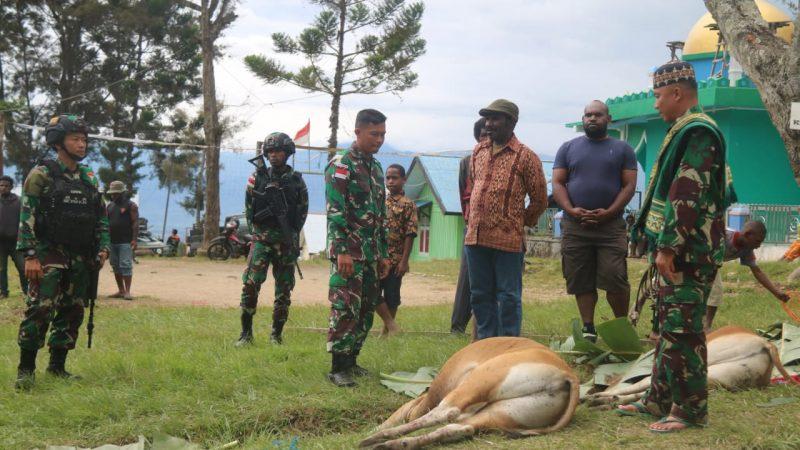 Satgas Yonif RK 751/VJS, Idul Adha 1442 HDi Pegunungan Tengah Papua