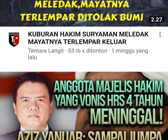 IKAHI Sesalkan Pemberitaan Kematian Hakim Suryaman Dikaitkan HRS