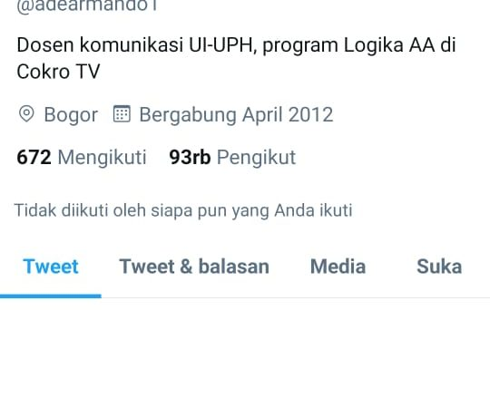 Twitter Ade Armando Ditangguhkan, Netizen: Akun Buzzer Tumbang
