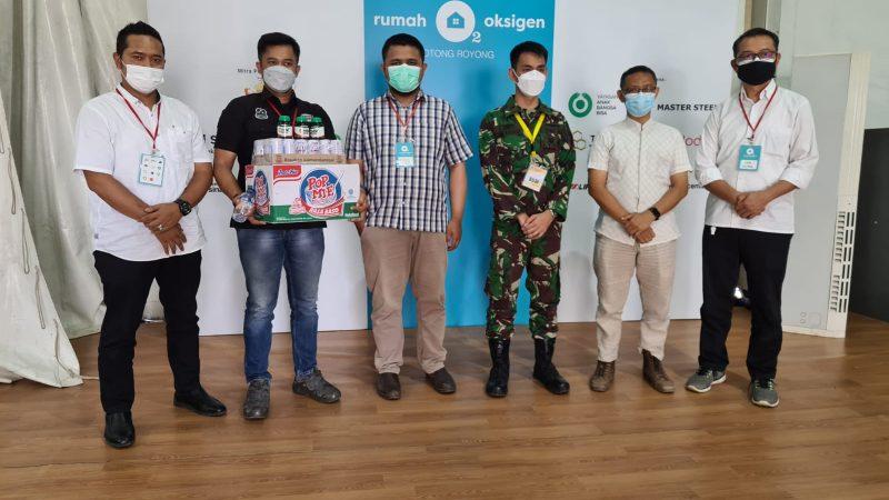Asosiasi Gas Industri Bersama Polri Bantu Pasien Covid di Rumah Oksigen
