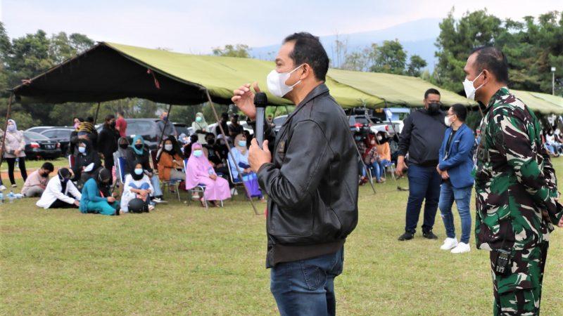 Ribuan Warga Bandung Antusias Ikuti Serbuan Vaksinasi di Seskoau