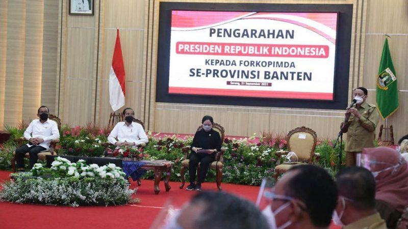 Capaian Provinsi Banten yang Dilaporkan Gubernur WH kepada Presiden Jokowi