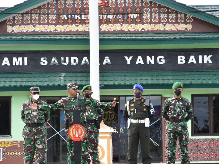 Danrem 174 Merauke Pimpin Apel Gelar Pasukan Pengamanan PON XX