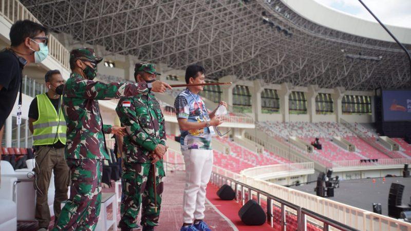 Pangdam XVII/Cenderawasih Cek Pengamanan Pembukaan PON XX di Stadion Lukas Enembe