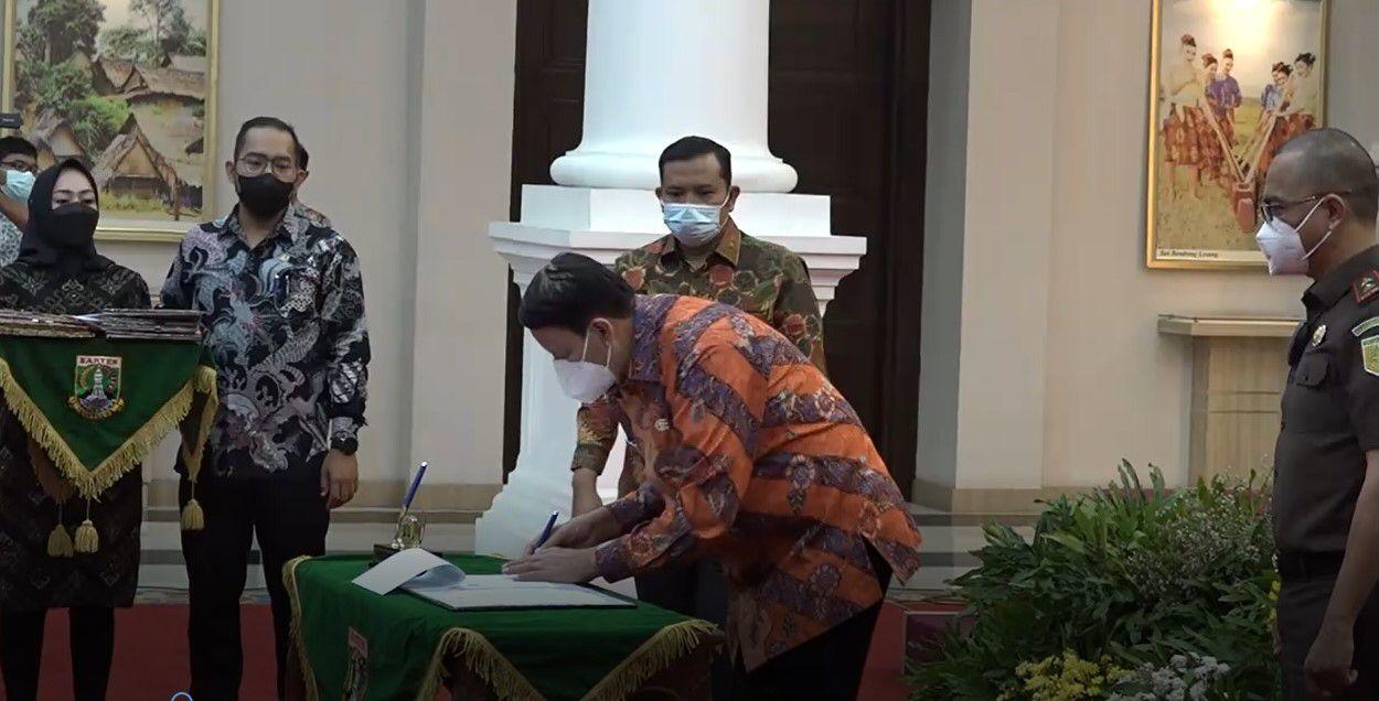 Pertama di Indonesia, Kerjasama Pencegahan Tindak Pidana Korupsi antara Pemprov Banten dan Kejati Banten