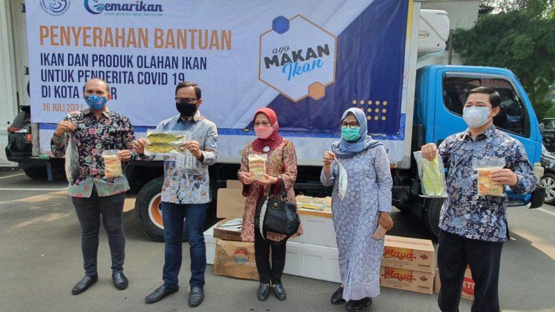 Jaga Imunitas Warga Isoman dan Terdampak Covid-19, KKP Salurkan Bantuan Ikan di Kota Bogor